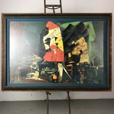 Hong Kong Abstract Art by Gonzales with Nice Reofect Frame