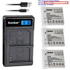 Kastar Battery LCD Dual Charger for Canon NB-4L 4LH PowerShot TX1 IXY Digital 10