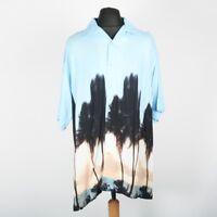 Vintage Abstract Graphic Hawaiian Shirt | Mens XL | Retro Funky Nineties