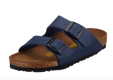 Birkenstock Arizona LEATHER  Womens Sandals 051153 BLUE EU 39  US 8 NARROW