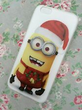 IPhone 6 & 6s soft clear dispicable me minions housse de protection slim case cadeau de noël