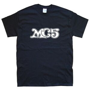 MC5 T-SHIRT sizes S M L XL XXL colours Black, White