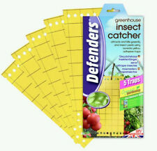 10 x Defenders Greenhouse Insect Catcher Yellow Traps Kills Greefly Insect Pest