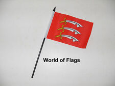 """ESSEX SMALL HAND WAVING FLAG 6"""" x 4"""" County Crafts Table Desk Display"""