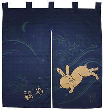 Noren Japanese Curtain Kaiuntei Fuku Usagi  Made in Japan 90 x 83 cm