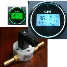 Digital GPS Tacho Boot Benzin Durchflussmesser Flowmeter  85mm Kompass Speedo