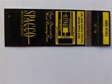 SPACCO RESTAURANT YOUNG ST TORONTO ONTARIO CANADA VINTAGE MATCHBOOK