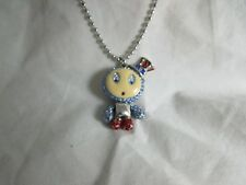 Swarovsk 3D RARE Eliot Blue and Red Pendant Crystal Authentic swan necklace