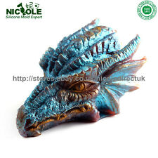 3D Dragon Head Silicone Soap Moulds Candle DIY Tool Chocolate Fondant Cake Candy