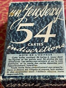 Vintage French Fifties Style Nude Playing Cards Poker Bridge Canasta