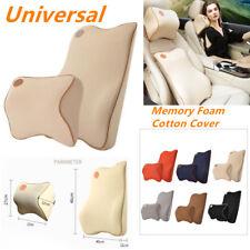 Set of Car SUV Interior Headrest Neck Lumbar Support Cushion Memory Foam Pillow