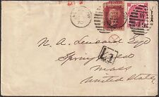 GB 1869-70 1d,3d sg 43 p131,103 p6 cover W49 [Sidmouth St] 31 Dec 1870 to USA