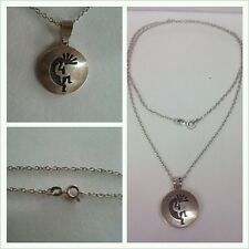 Largo Cadena de plata 925 Con Colgante Joyería Collar