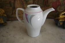 Wonderful Jlmenau Modernist Mid Century Coffee Pot In Pink Gray & White No Lid