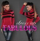 Sexy Women's Turtleneck Jumper Sweater Knit Top AU SIZE 10 8 6 (US 2 4 6) XS S M