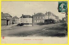 cpa Picardie 60 - Village de FEUQUIÈRES (Oise) La Place du Marché Abreuvoir