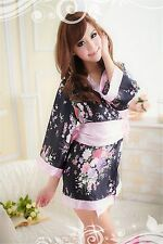 Costume Completino Rosa Pink Kimono Giapponese Cosplay Molto Sexy Japanese