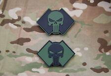 2 x Replica 2 Commando D Coy PVC Punisher Patch