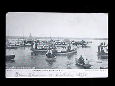 1905 Boats in Harbor Carnival Day Red Bank NJ post card