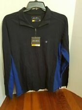 Eddie Bauer Pull Over Light Jacket Shirt Zip Up Collar Mens Medium Long Sleeve