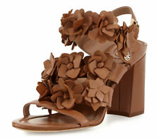 Tory Burch Blossom Leather 65 mm Sandals Slingback Royal Tan 8 Shoes