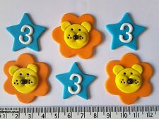 30 x cupcake cake toppers birthday party lions stars boys decorations