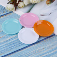 3x 1:12 Dollhouse miniature round dishes plate tableware doll kitchen toys mi