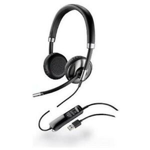 Plantronics Poly Blackwire C720 Binaural Wired Headset /w USB cable
