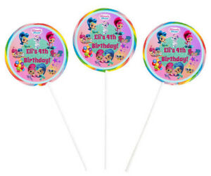 16 x Shimmer & Shine Girls Lollipop Lolly Pop Stickers Labels Birthday Favors