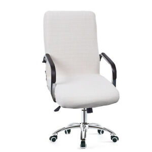 Check Pattern Elastic Home Waterproof Removable Computer Chair Cover Zipper