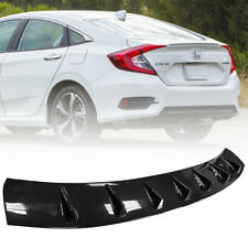 Painted Glassy Black For Honda LX DX Sedan Civic 10th Roof Fin Spoiler Wing 2017
