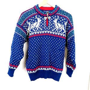 Dale Of Norway Womens Reindeer Wool Sweater M /L