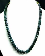 Natural Emerald 420ct Big Size Faceted Beaded Gemstone Stings Necklace