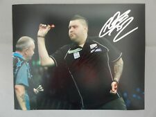 "HAND SIGNED 10"" x 8"" PHOTO - MICHAEL SMITH - PDC DARTS - BULLY BOY"