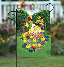 New Toland - Easter Chicks - Spring Hen Egg Nest Flower Garden Flag