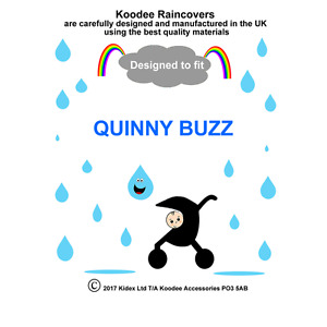 RAINCOVER by Koodee designed to fit QUINNY BUZZ SEAT UNIT Made in the UK BNIP