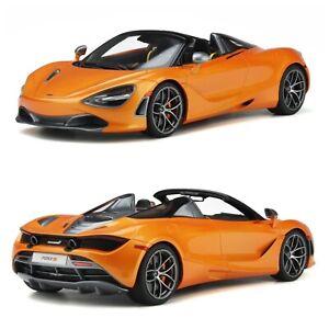 1/18 GT Spirit McLaren 720S Spider 2018 Papaya Spark Livrai Domicile Fin Juillet
