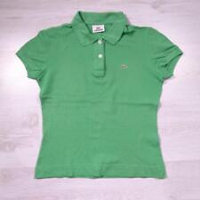 Ladies LACOSTE Green Vintage Designer Polo Shirt T-Shirt Size 38 / UK 10 #D4775