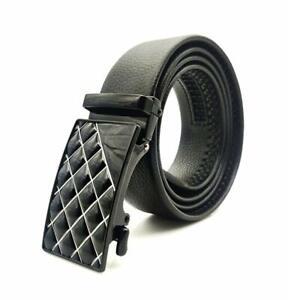 New Black PU Men's Buckle Belt Gift Item