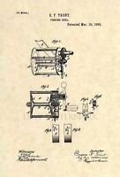 Original Fishing Reel US Patent Art Print- Official Vintage Antique 176