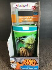 New listing New Star Wars Snackeez 2 in1 Yoda Large Size 16oz drink & 8 oz snack cup