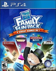HASBRO FAMILY FUN PACK PlayStation 4 (PS4)  BRAND NEW FACTORY SEALED