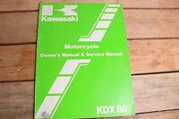 Kawasaki KDX80 C3 KDX 80 OEM Owners and Service Manual 99920-1327-01