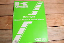 Kawasaki KDX80 C3 KDX 80 OEM Owners and Service Manual 99920-1327-01