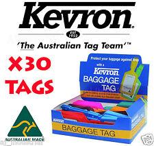 Original Kevron LUGGAGE TAGS Bulk Lot  x30 Tags Mixed Colors !!!