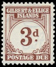 "GILBERT & ELLICE J3 (SG D3) - Numeral of Value ""Postage Due"" (pf31944)"