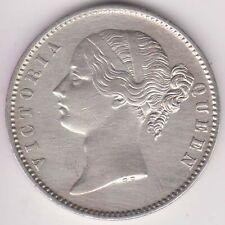 BRITISH INDIA-1840-DIVIDED LEGEND-ONE RUPEE-VICTORIA QUEEN-RAREST SILVER COIN