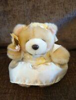 "Forever Friends Teddy Bear Flower Girl Bridesmaid Soft Toy Plush Vintage 6"" Tag"