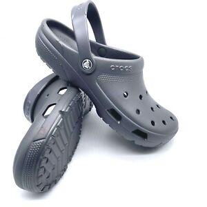 New Crocs Coast Clog Graphite Grey 204151-014 Men's Size 10 / Womans Size 12