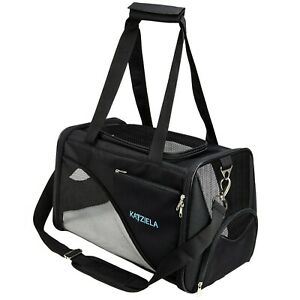 Katziela Pet Carrier - Soft Sided, Airline Approved Carrying Bag for Small Dogs